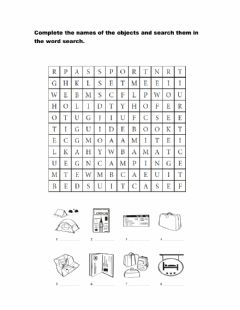 Interactive worksheet Travel Word Search