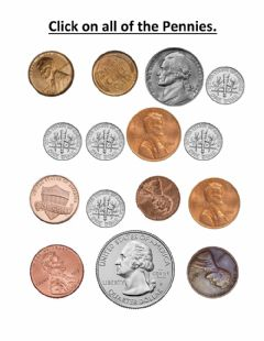Interactive worksheet Click on the pennies