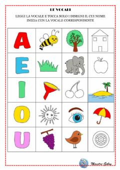 Interactive worksheet Le vocali