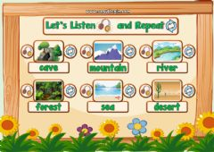 Interactive worksheet 3.10. Nature - Let's Listen and Repeat 2