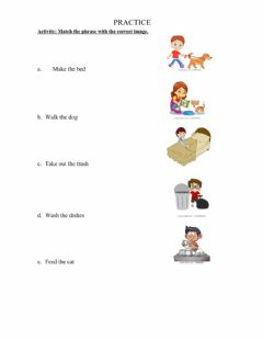 Ficha interactiva Household chores