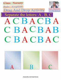 Interactive worksheet Select letter A,B,C