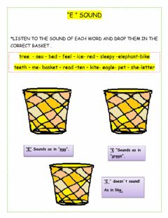 Interactive worksheet Vowel e sound