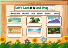 Interactive worksheet 3.10. Nature - Let's Look and Drag 2