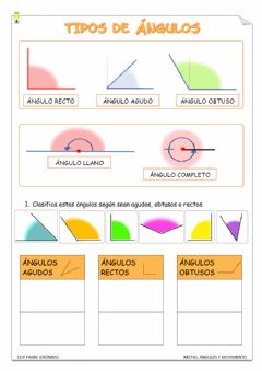 Interactive worksheet Tipos de ángulos 1