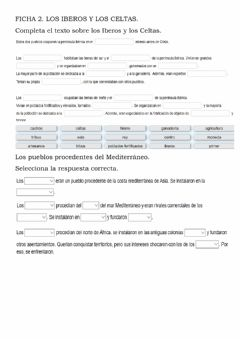 Interactive worksheet Los iberos y los celtas