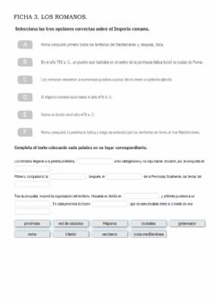 Interactive worksheet Los romanos