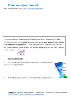 Interactive worksheet Volamos ¿Por dónde?