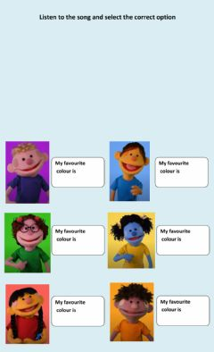 Interactive worksheet What-s your favourite colour?