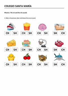 Interactive worksheet The CH and the SH sounds