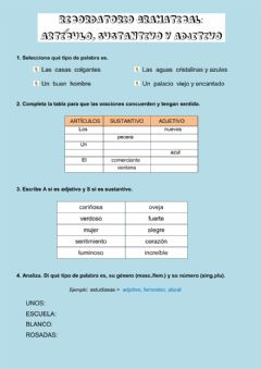 Interactive worksheet Repaso gramatical