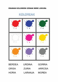 Interactive worksheet Koloreak