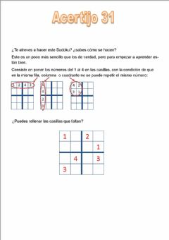 Interactive worksheet Sudoku de 4
