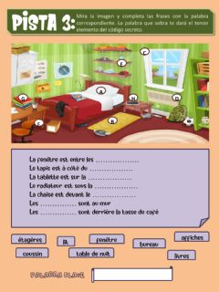 Interactive worksheet Ma chambre