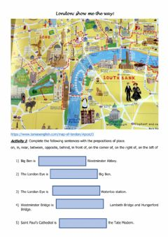 Interactive worksheet London Show me the way