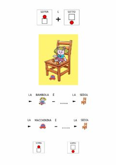Interactive worksheet SOPRA e SOTTO in CAA