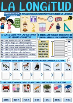 Interactive worksheet La longitud y sus unidades
