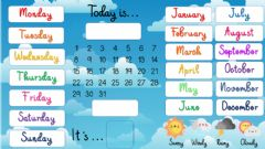Interactive worksheet Calendar Poster