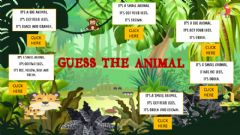 Ficha interactiva Guess the animal