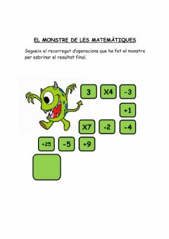 Interactive worksheet El monstre de les matemàtques