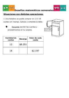 Interactive worksheet Desafios semanales