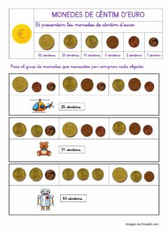Interactive worksheet Monedes