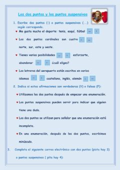Interactive worksheet Los dos puntos