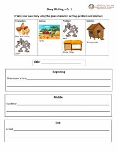Interactive worksheet Story Writing Challenge 1