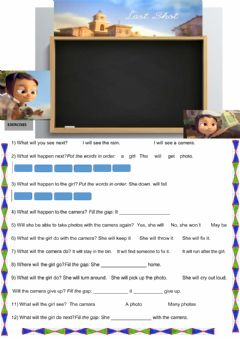 Interactive worksheet Future Simple Comprehension