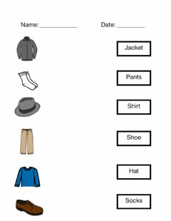 Interactive worksheet Matching Clothes