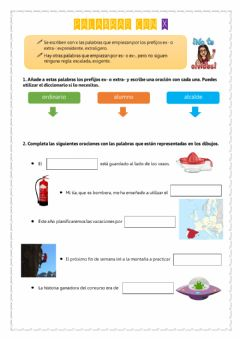 Interactive worksheet Palabras con X
