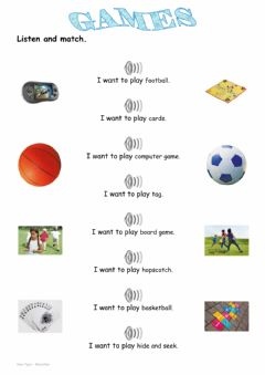 Interactive worksheet Games 3