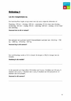 Interactive worksheet Cijferen