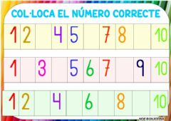 Interactive worksheet Colocar numero tira numerica