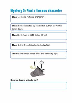 Interactive worksheet Be a detective!