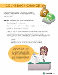Interactive worksheet Wealthy Habits Count Back Change