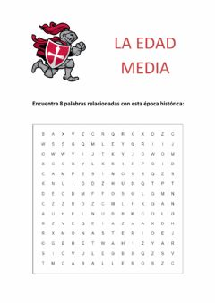 Interactive worksheet Sopa de letras de la Edad Media