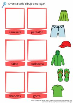 Interactive worksheet Lectura global - ropa
