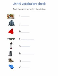 Interactive worksheet Hiking vocabulary match