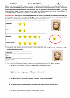 Interactive worksheet pictograma notas mates