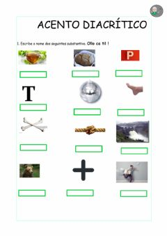 Interactive worksheet acento diacrítico