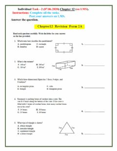Interactive worksheet Chapter 12