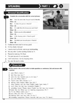 Interactive worksheet Speaking part 1.1 A2 (exam booster)