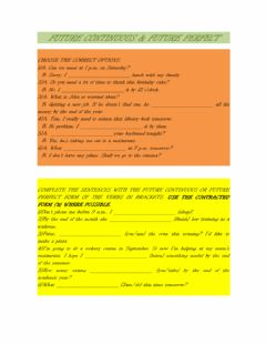 Interactive worksheet Future continuous & Future perfect
