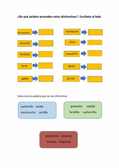 Interactive worksheet Diminutivos