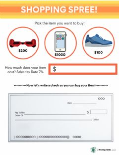 Interactive worksheet Wealthy Habits Shopping Spree