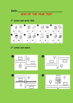 Interactive worksheet End of the year test