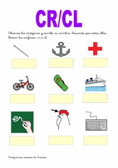 Interactive worksheet Trabadas cr cl
