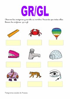 Interactive worksheet Trabadas gl-gr