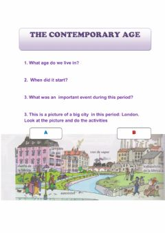 Interactive worksheet The contemporary age